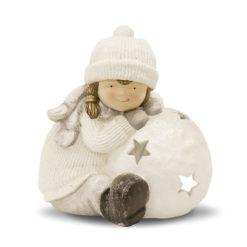 Világító karácsonyi mécsestartó szobor