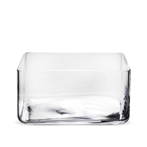Üveg váza  10x20x20cm