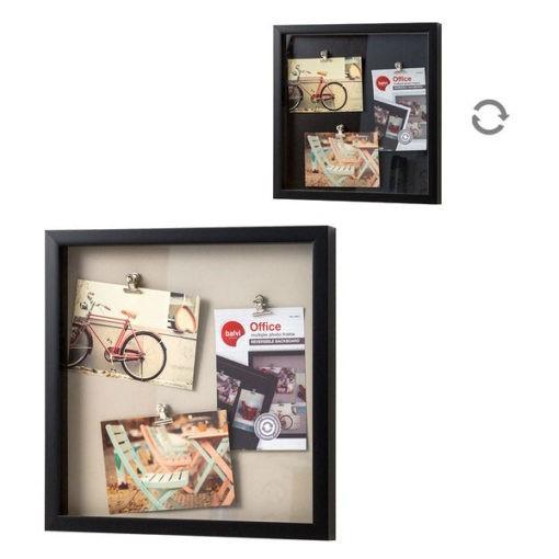 3 részes fekete műanyag képkeret Office