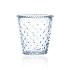 Pöttyös üveg váza 12cm