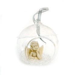 Angyal üveg gömbben