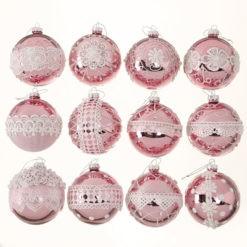 Exkluzív üveg karácsonyfadísz gömb