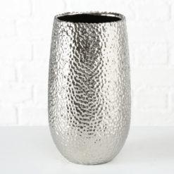 Ezüst színű kö hatásó kerámia váza 31cm