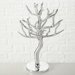Króm hatású fa formájú ékszertartó állvány 21x16x31cm Baum