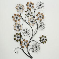virágzó ágat formázó fém fali dekoráció 53x95cm Nizza
