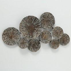 Modern antik arany fali dekoráció fémből 70x40x6cm