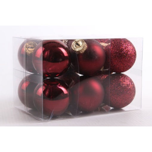 Üveg karácsonyfadísz gömb
