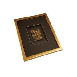 Arany keretes arany színű 3d hatású falikép
