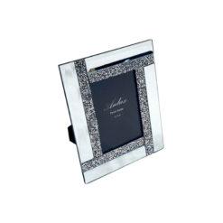 Tükrös csillogó köves berakással díszített 9x13cm-es képkeret