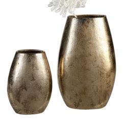 Antik hatású arany színű alumínium váza