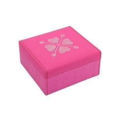 Pink ékszertartó doboz