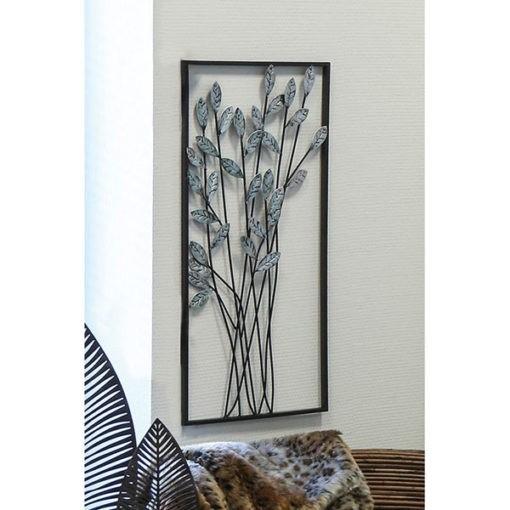 Fémből készült ezüst színű antik hatású ágakat formázó fali dekoráció 62x31cm Twigs