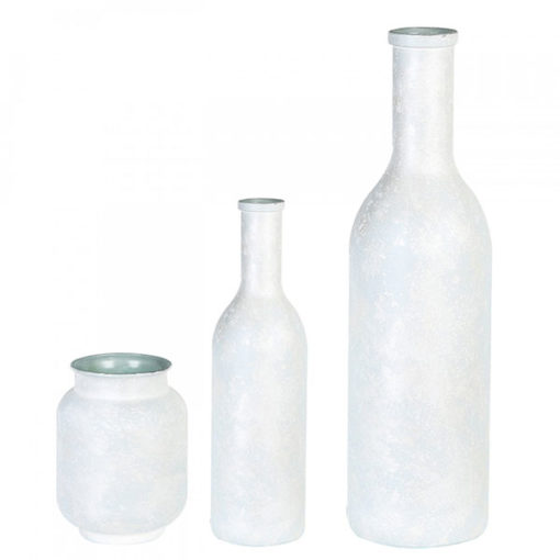 Fehér üveg váza