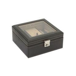 5 részes óratartó doboz led világítással Carbon 18 x 17 x 8