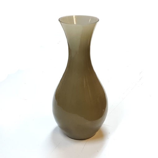 Barna színű üveg váza 30cm