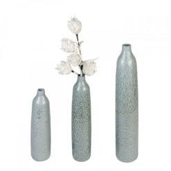Világoskék kerámia váza 50x13cm Agia