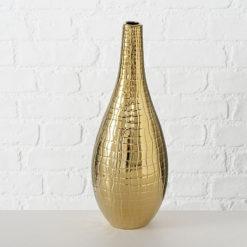 Arany színű kerámia váza Beria 36cm