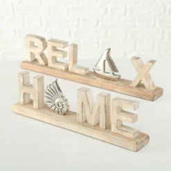 Relax és Home asztali dekoráció 6x12cm