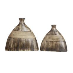 Exkluzív barnás kerámia váza Marron 22x7x20.5cm