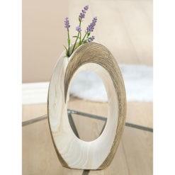 Barnás bézs kerámia váza Marmoria 17x8x28cm