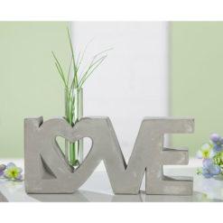 Beton felületű Love felirat üveg vázával 22.5x4.5x13cm