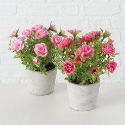 Exkluzív rózsacsokor művirág kaspóban