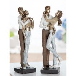 Szerelmespár asztali szobor 8x6x25cm