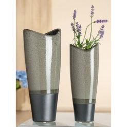 Exkluzív kékes szürkés kerámia váza Cinzento 13x10x32.5cm