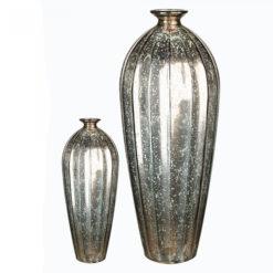 Antikolt arany színű 100% újrahasznosított üveg váza 28x12cm Etico
