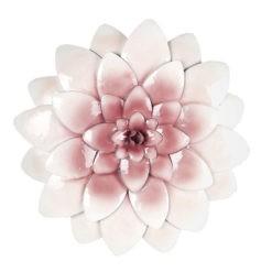 Rózsaszín virág fém fali dekoráció 29x3cm