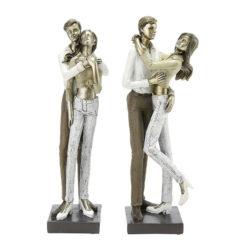 Szerelmespár szobor 25x8x6cm