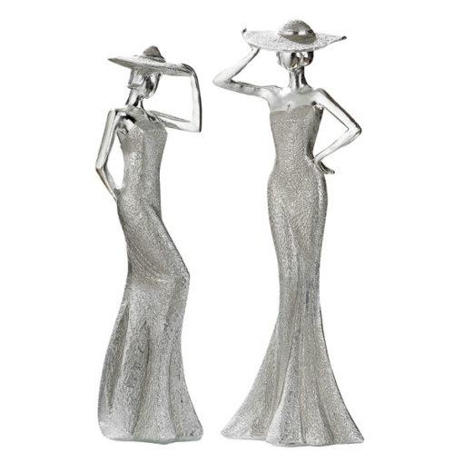 Lady Diva szobor ezüst színben 30x10x8