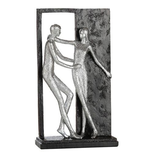 Páros szobor ezüst színben 27x16x6