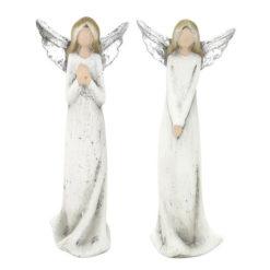 """Kerámia angyal szobor ezüst szárnyakkal """"Alina"""" 16"""