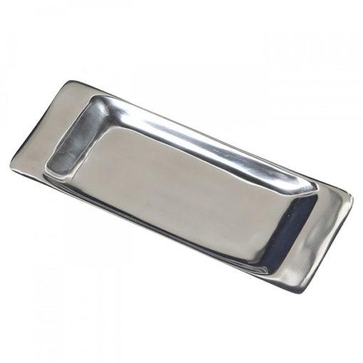 Polírozott alumínium tálca