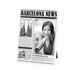 Újságcímlap típusú asztali képkeret Barcelona 23x18cm