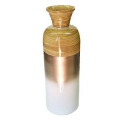 Fényes pezsgő színű bambusz padló váza 54cm
