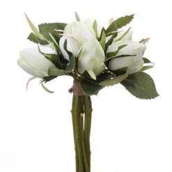 Hófehér rózsacsokor 7 virággal 17x17cm Labelle